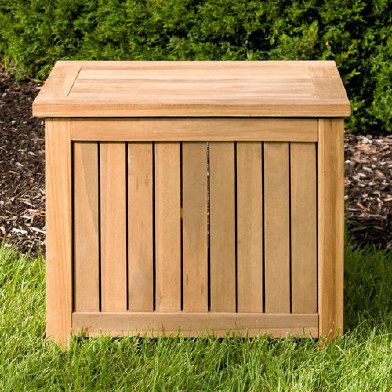 holley 24 teak storage box - Garden Storeage Boxes