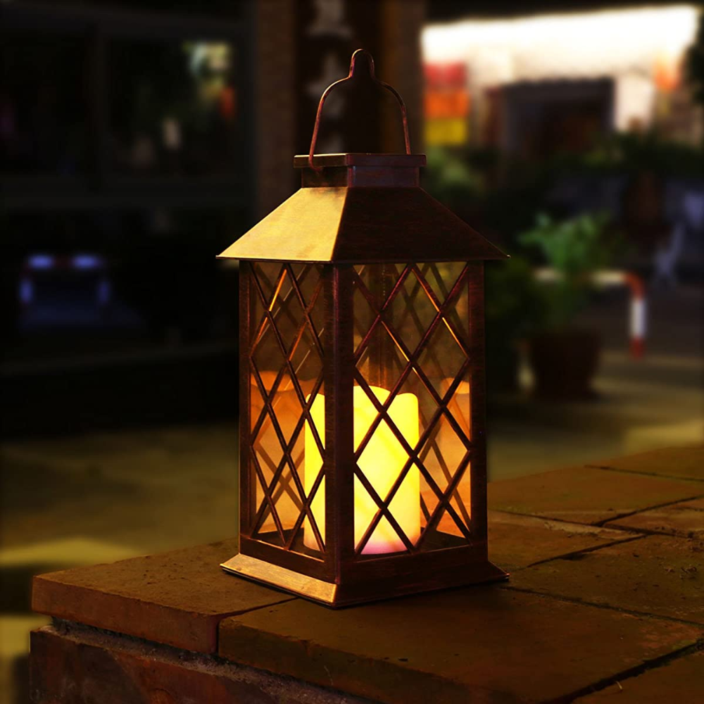 Take Me Solar Lantern Outdoor Garden Hanging Lantern Waterproof Led Flickering Flameless Candl In 2020 Outdoor Hanging Lanterns Solar Hanging Lanterns Outdoor Lanterns