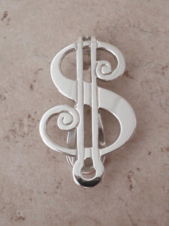 Sterling Money Clip Dollar Sign R Blackinton Vintage 111616bt