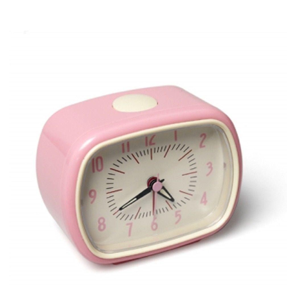 rosa vekkerklokke
