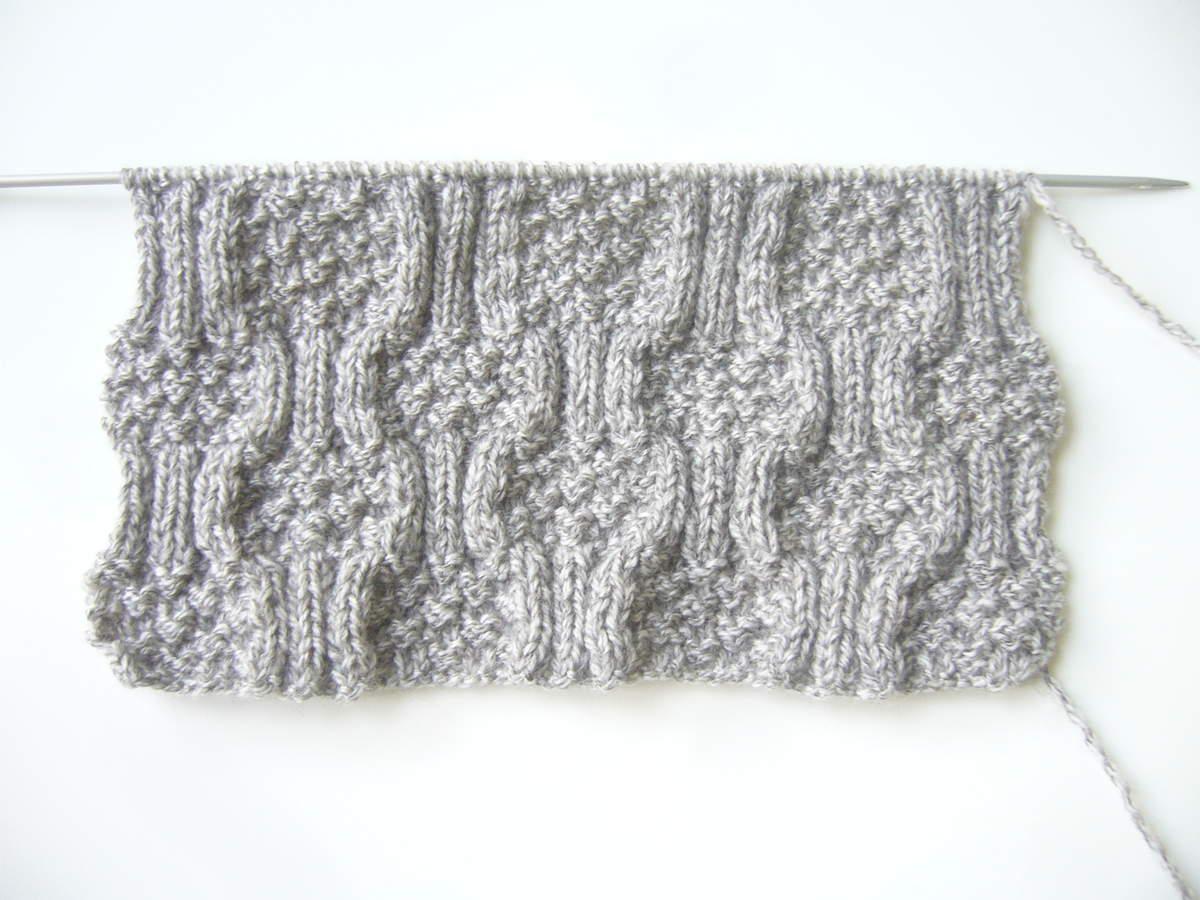 962feb827647 Tricoter le point Mosaïque   nouveau point de tricot   Knitting ...