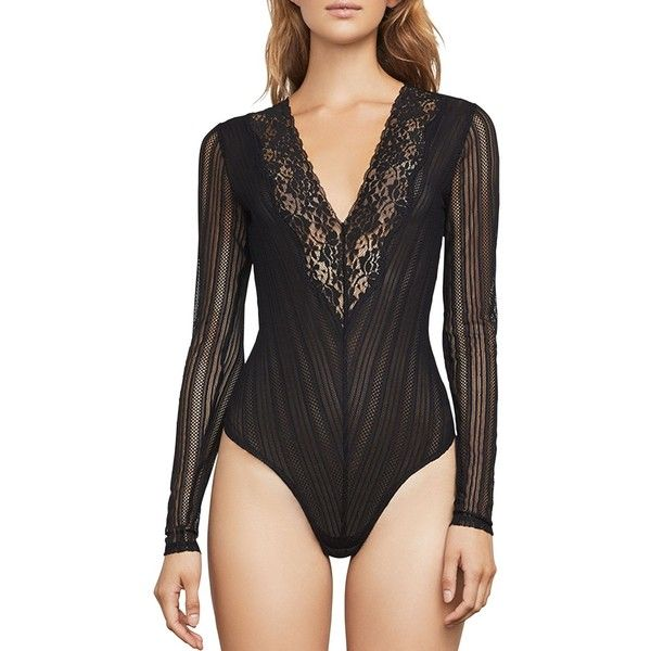 Bcbgmaxazria Cato Floral Lace Bodysuit ( 74) ❤ liked on Polyvore featuring  intimates 8994a1cf8