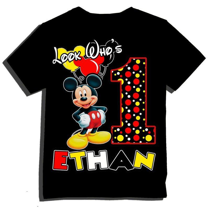 Look who's Mickey Birthday Shirt Etsy Mickey mouse