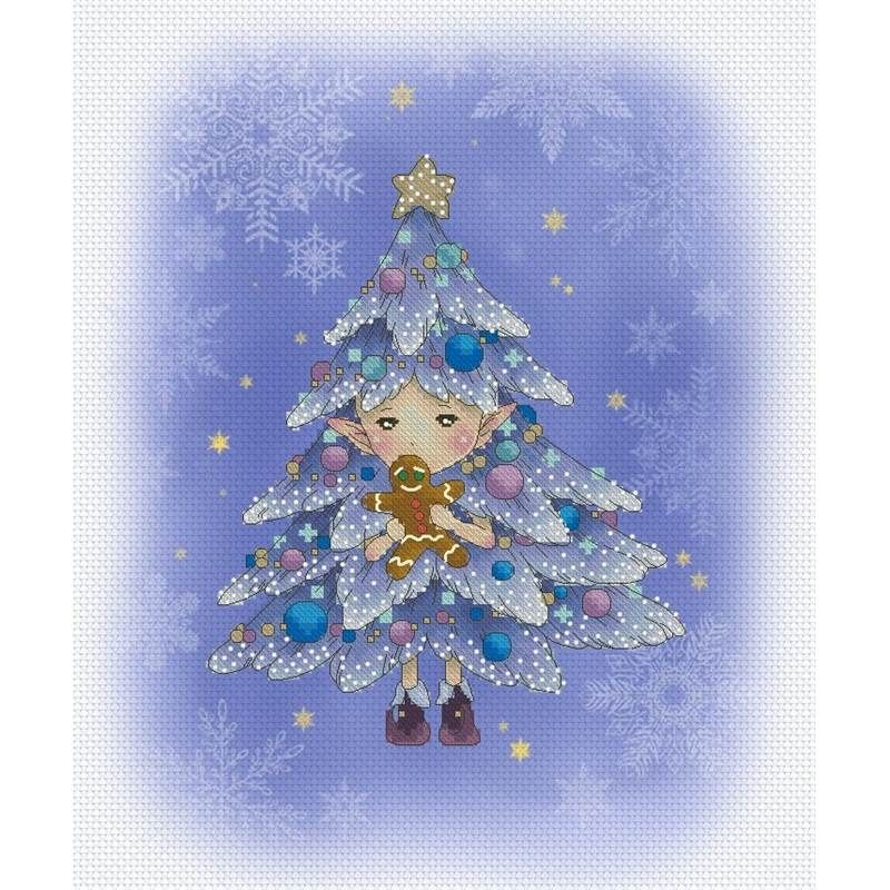 Lena Lawson Needlearts grille Christmas Tree Sprite chez Univers ...