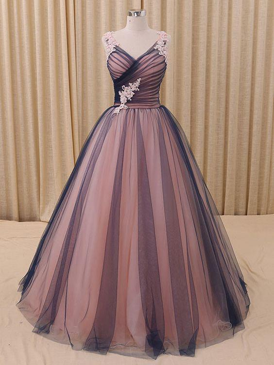 Beautiful Prom Dresses Ball Gown Floor-length Prom Dress/Evening ...