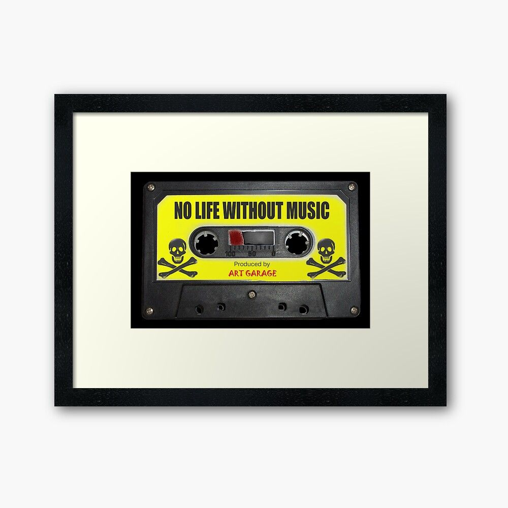 WHITHOUT MUSIC LIFE IS PHOTO PRINT ON FRAMED CANVAS WALL ART