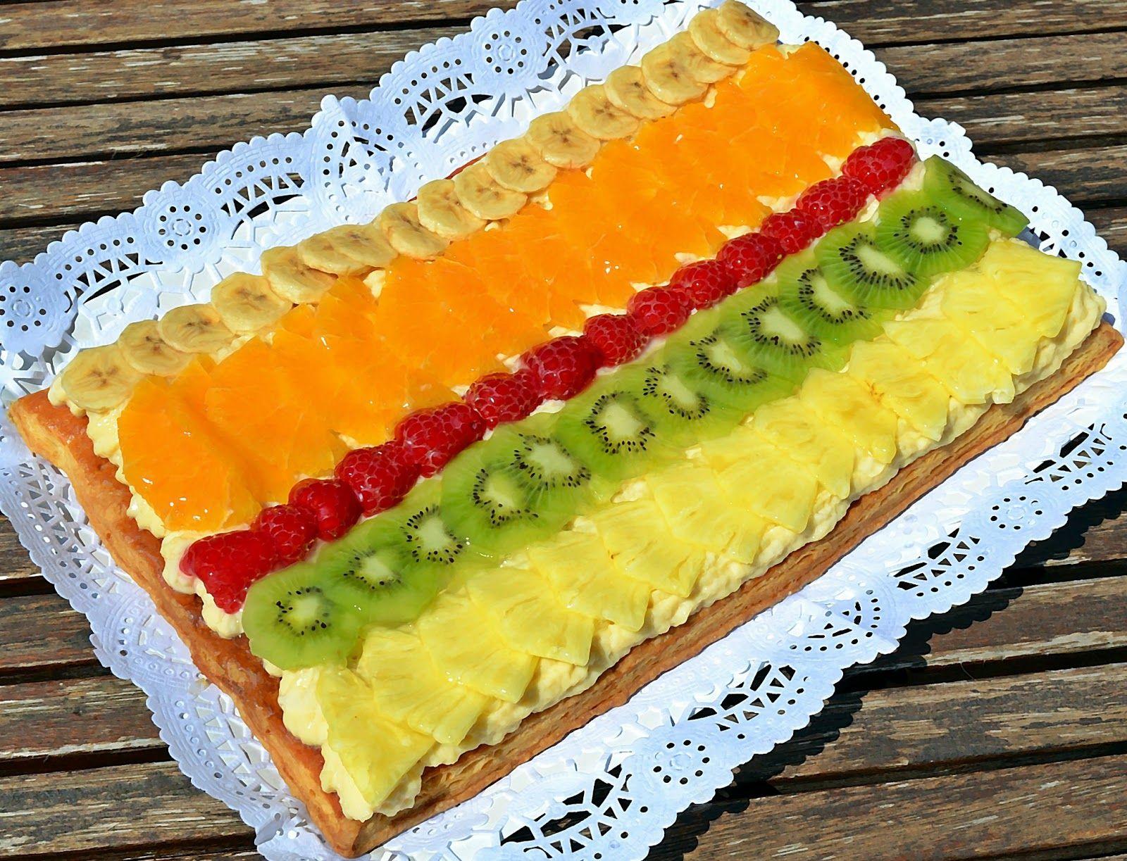 Tarta De Hojaldre Con Crema Y Frutas Thermomix Tartas De Hojaldre Tartas Hojaldres