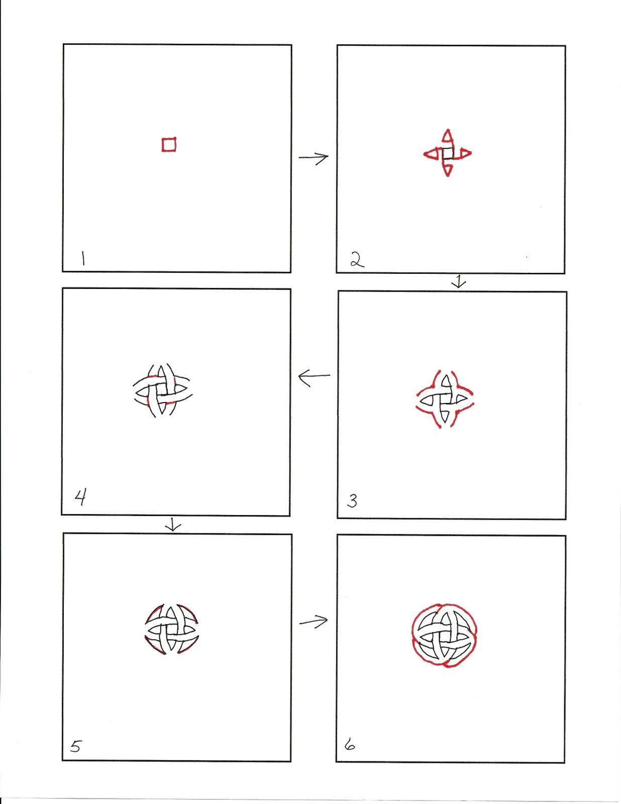 Not-a-Knot Zentangle tutorial