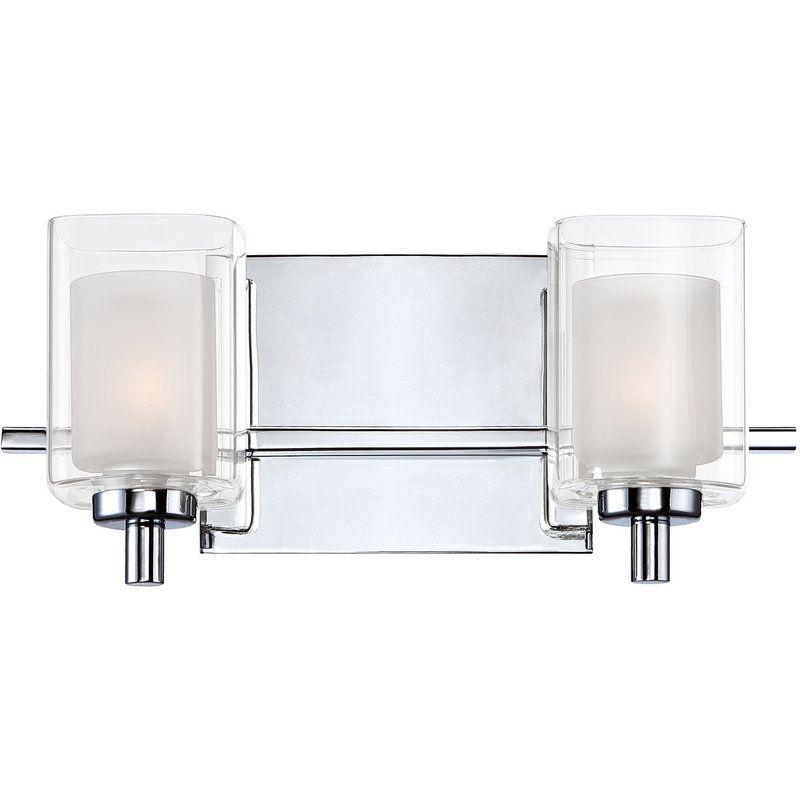 """Halogen Bathroom Sconces view the quoizel klt8602 kolt 2 light 13"""" wide reversible halogen"""