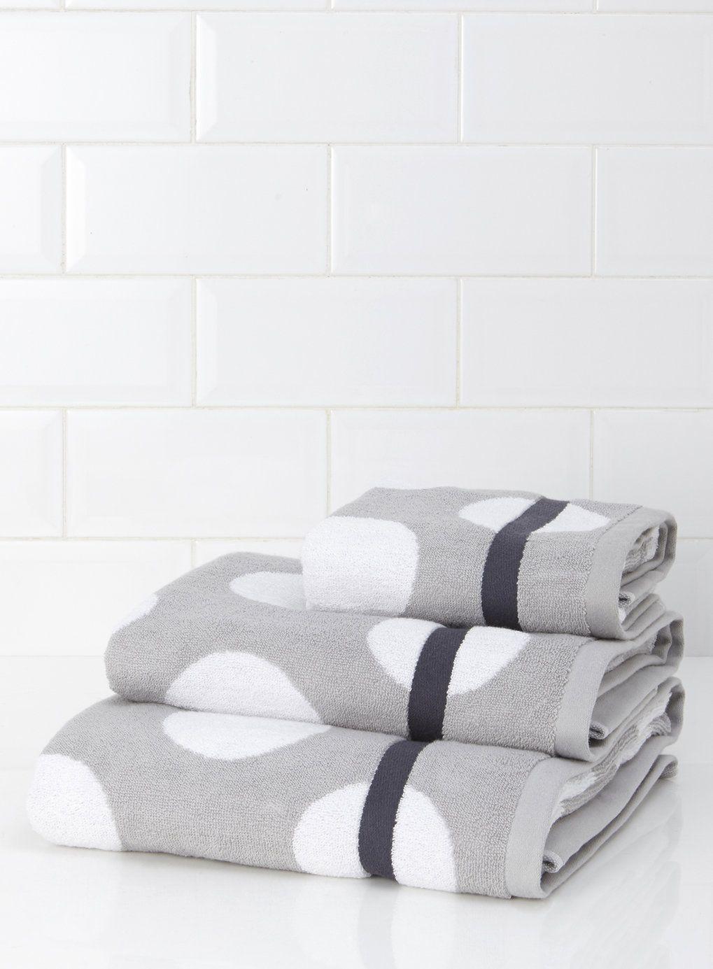 Monochrome Oversized Spot Towel Towel Cotton Bath Towels Home