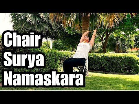 chair surya namaskar or chair sun salutation  seated sun