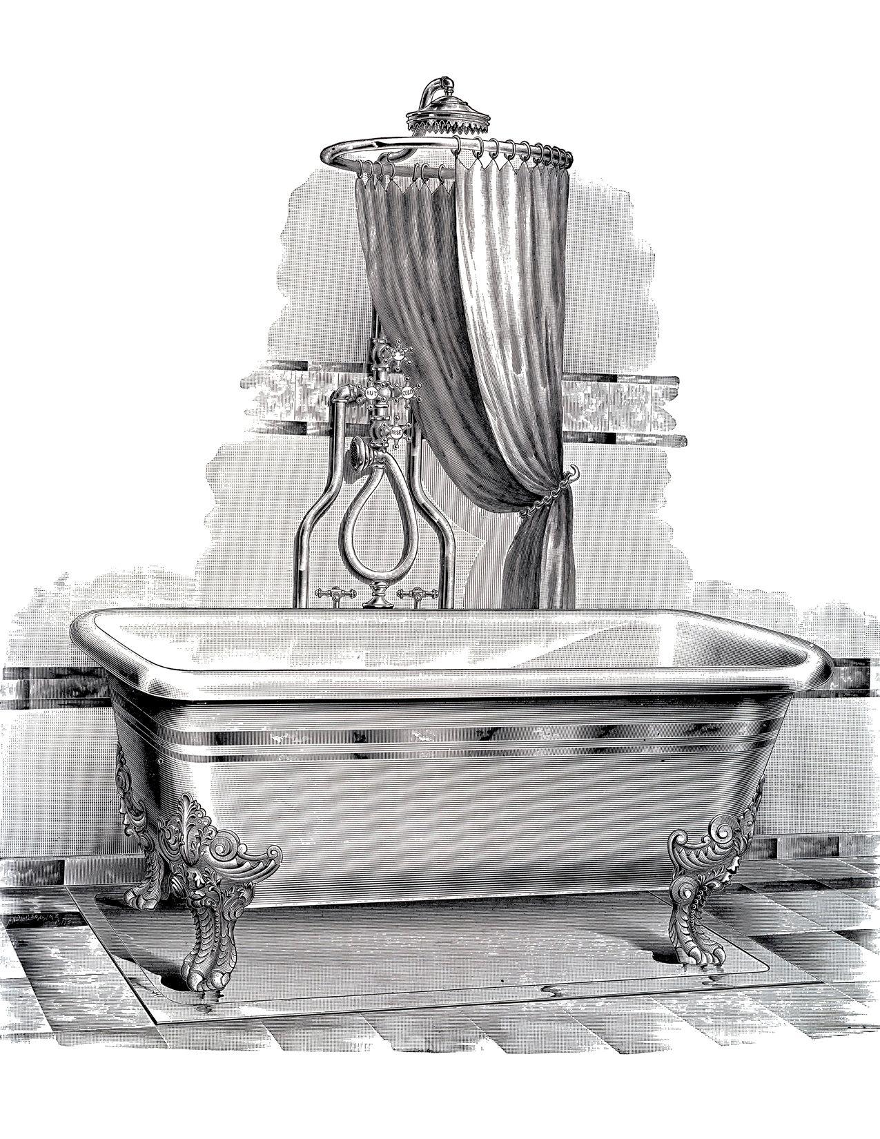 Clawfoot Bathtub Drawing