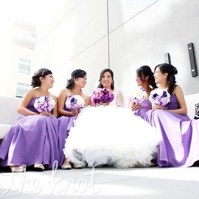 purple bridesmaid dresses +purple bouquet #light #purple #long ...