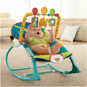 Fisher Price Infant To Toddler Rocker Dark Safari Bouncer Chair