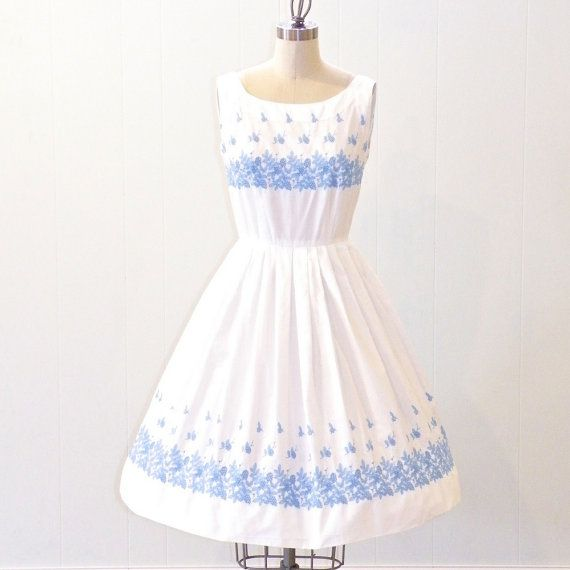 60s Embroidered Dress