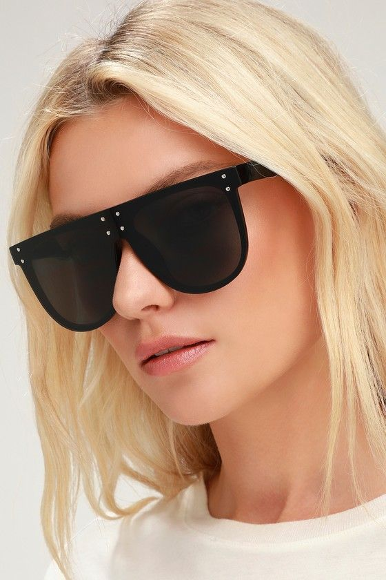 Best Black Flats 2019 Lulus   Kimmie Black Flat Top Sunglasses in 2019   Products   Flat