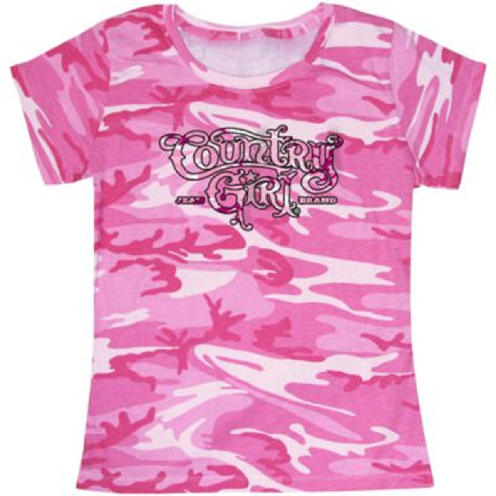 Pink T Shirt-Country Girl Pink Camo Pink T Shirt-Country Girl Pink Camo. Ladies Logo Tee is a crew neck short sleeve tee, made with 4 oz. 100% combed ringspun cotton fine jersey fabric, features a woodland camo pattern. This crew neck tee has double-needle stitched sleeves & bottom hem. http://kittykatkoutique.com/blog-shopping/pink-t-shirt-country-girl-pink-camo/