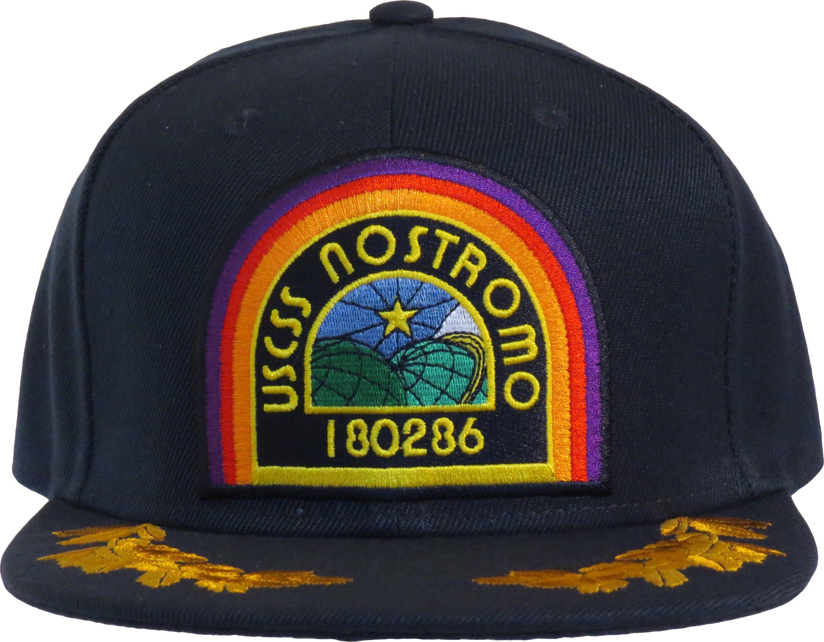 Official Alien Movie Snapback Cap. Navy Blue with the USCSS Nostromo front  logo b1ee71b0b80
