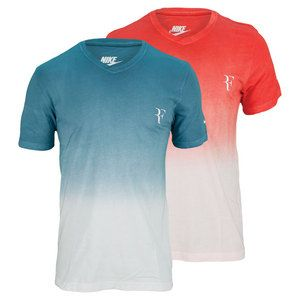 Feel cool in the Nike Men's RF V Neck Tennis Tee and support Roger Federer  at