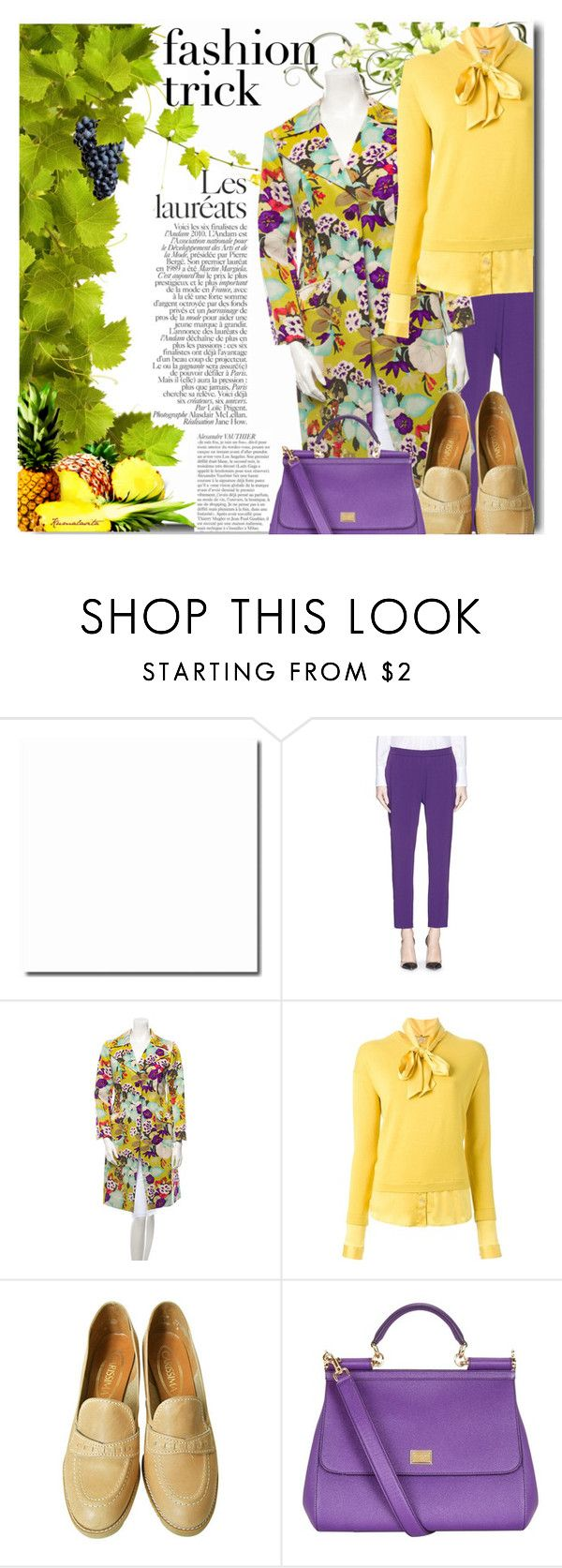 """""""Pineapple and Grapes"""" by kumalasita ❤ liked on Polyvore featuring STELLA McCARTNEY, Etro, P.A.R.O.S.H. and Dolce&Gabbana"""