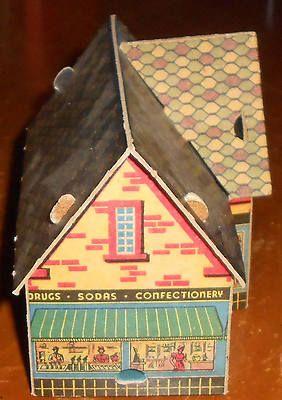 Built Rite Cardboard Drug Store Soda Shop 1930s Coca Cola Logo Lithograph Lionel