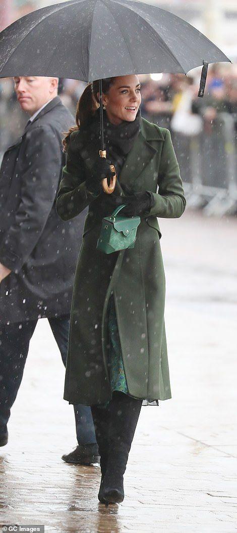 The Duke and Duchess of Cambridge visit Blackpool #largeumbrella