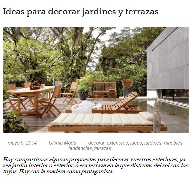Ideas para decorar jardines y terrazas - Ideas para decorar jardines ...