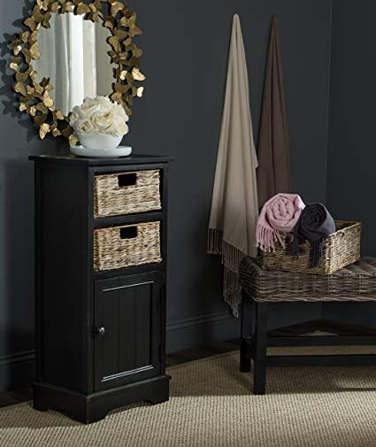 Safavieh American Homes Collection Connery Distressed Black Cabinet