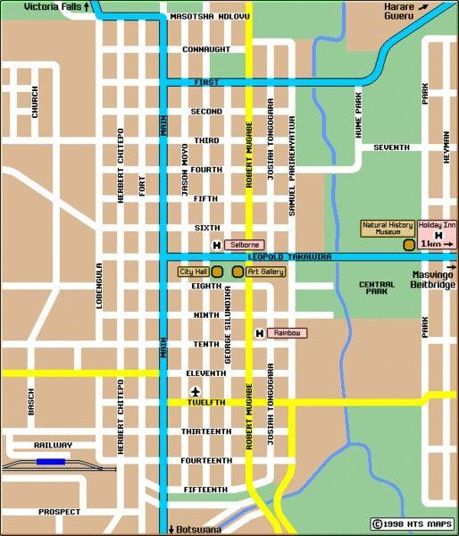 Gwelo street plan Rhodesia Pinterest Zimbabwe