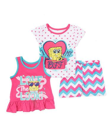 loving this pink love the look spongebob tank set toddler