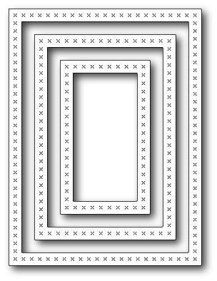 Memory Box Die Cross Stitched Frames
