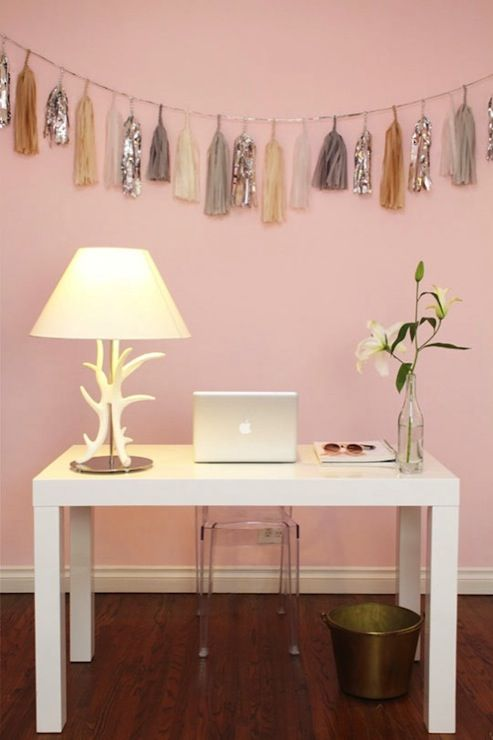 Cupcakes And Cashmere Fun Pink Office With Pink Walls