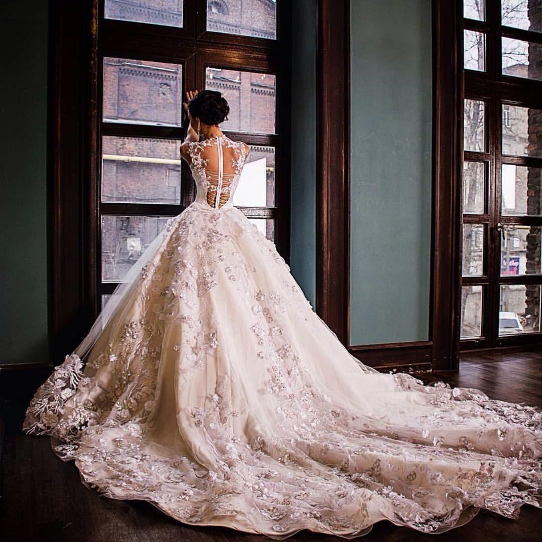 Olga malyarova princess wedding ballgown pink wedding dresses