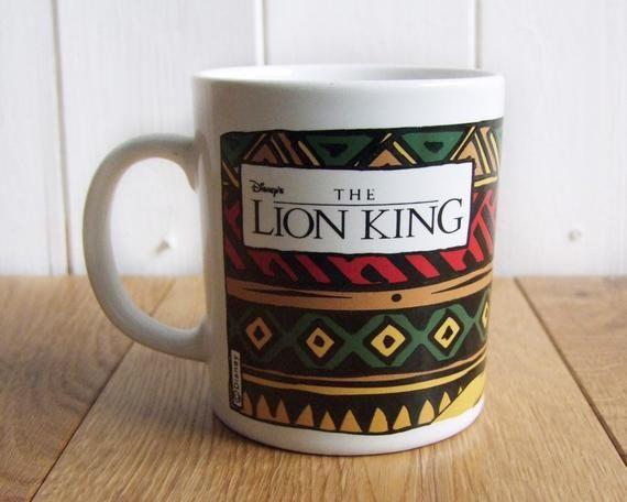 Vintage Lion King Mug | Disney Coffee Mug | Disney Office | Disney Lion King | Lion King Simba | Dis #disneycoffeemugs