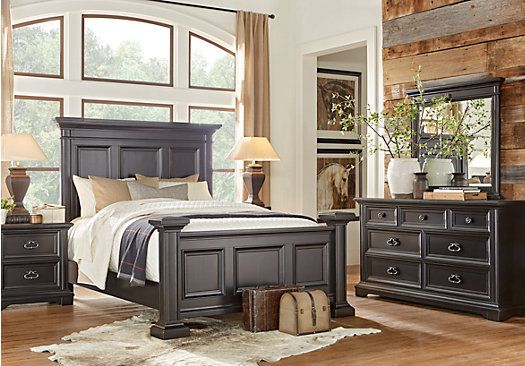 Eric Church Highway To Home Arrow Ridge Ebony 7 Pc King Bedroom Bedroom Sets Black Bedroom Sets Furniture King Bedroom Sets King Bedroom Sets