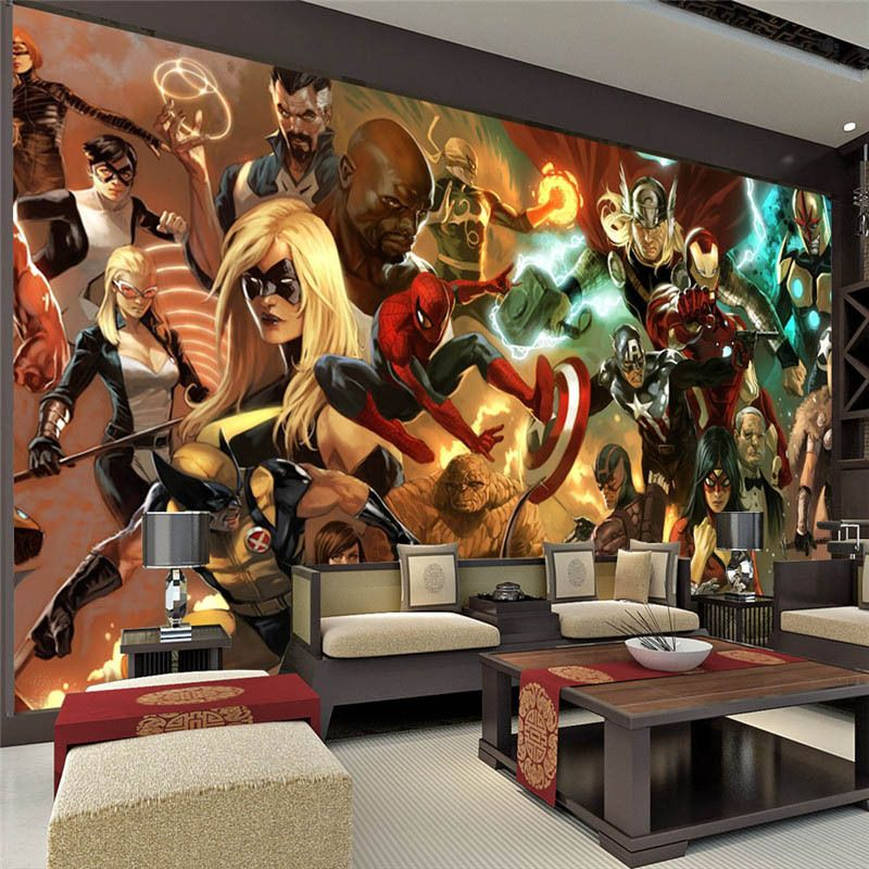 comic book murals room decor | Aliexpress.com: Acheter Marvel ...