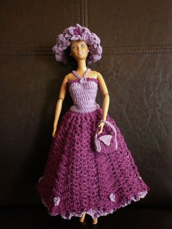 crochet barbie dress barbie crochet pinterest barbie kleider puppen und kleidung. Black Bedroom Furniture Sets. Home Design Ideas