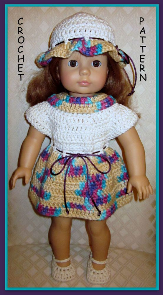 Crochet Pattern 14 To Make Adorable Doll Clothes Designed For 18