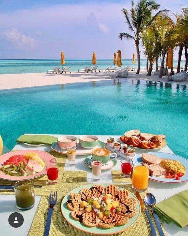 Картинки, картинка с добрым утром завтрак у моря