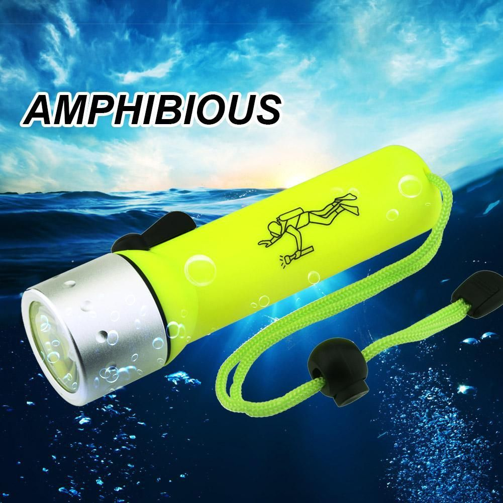 Diving LED Flashlight 2000LM Waterproof Underwater Flashlights Torch Light Lamp