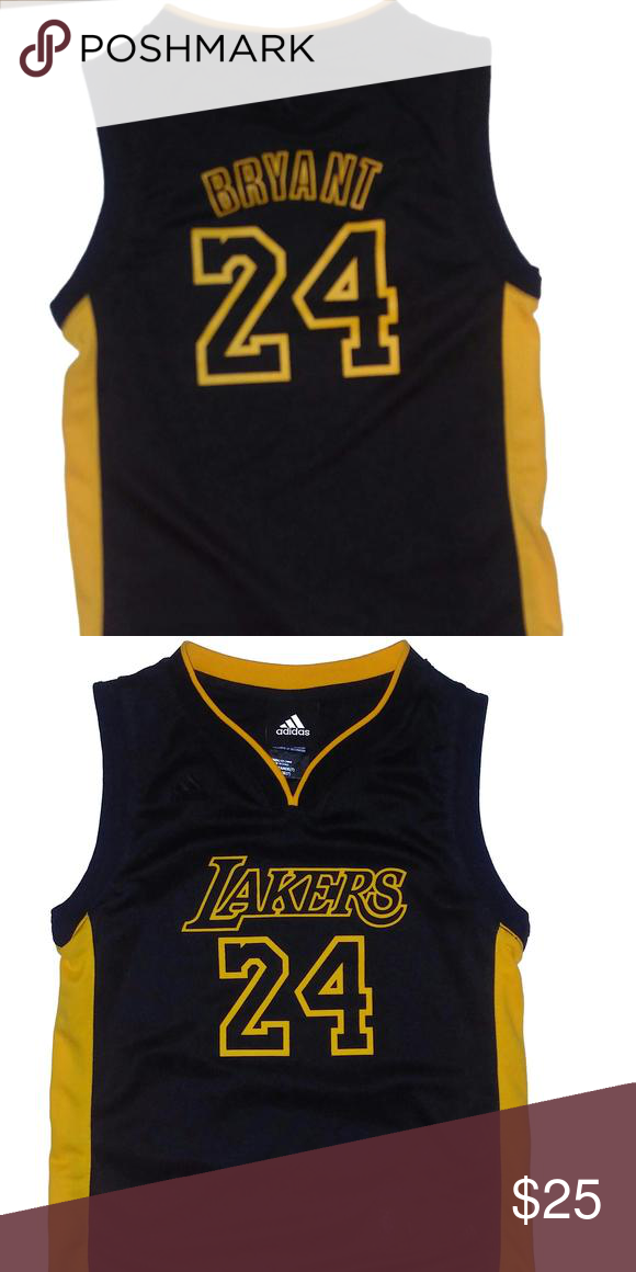 af49873f7c1 🏀Lakers Kobe Bryant Jersey🏀 Size Large/7.Black with Yellow Kobe  BryantJersey Adidas Shirts & Tops