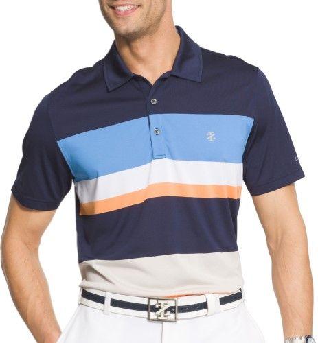 e1f03d2bad Izod Golf Mens Intrepid Striped Polo Shirt, Men's, Size: XL, Blue ...