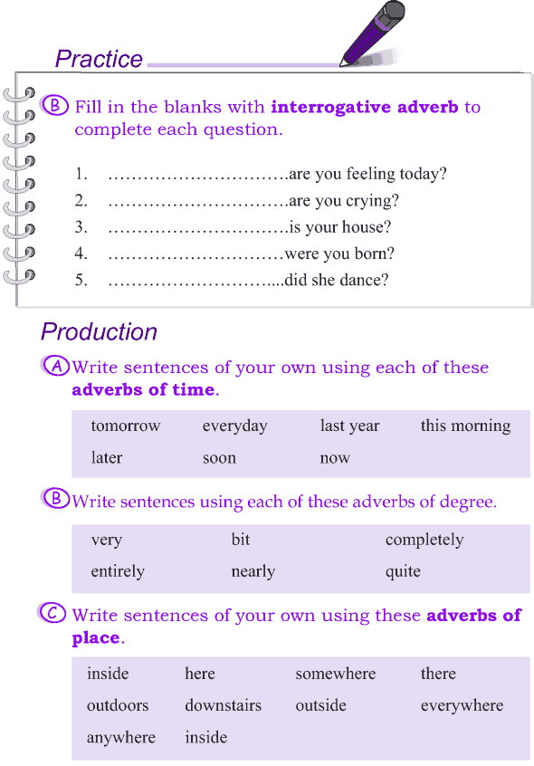 Grade 4 Grammar Lesson 11 Kinds Of Adverbs