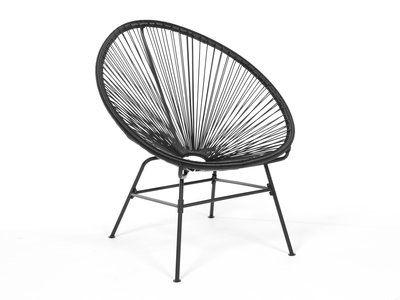 elegant fauteuil bas de jardin en fil de rsine et acier noir acapulco with fauteuil copacabana. Black Bedroom Furniture Sets. Home Design Ideas