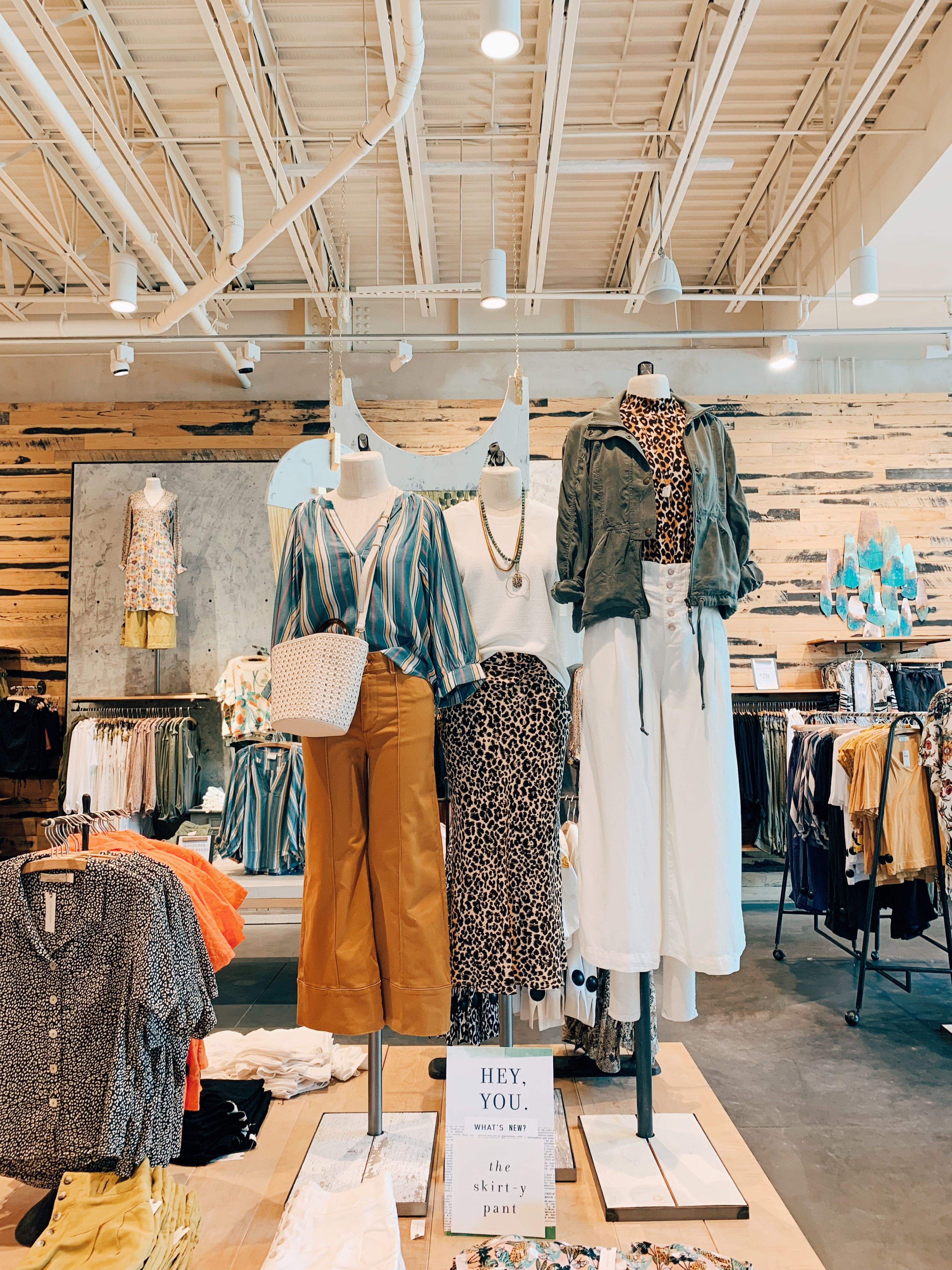 visual merchandising #visuals #anthropologie #outfits #animalprint #springlook #urbanoutfitters
