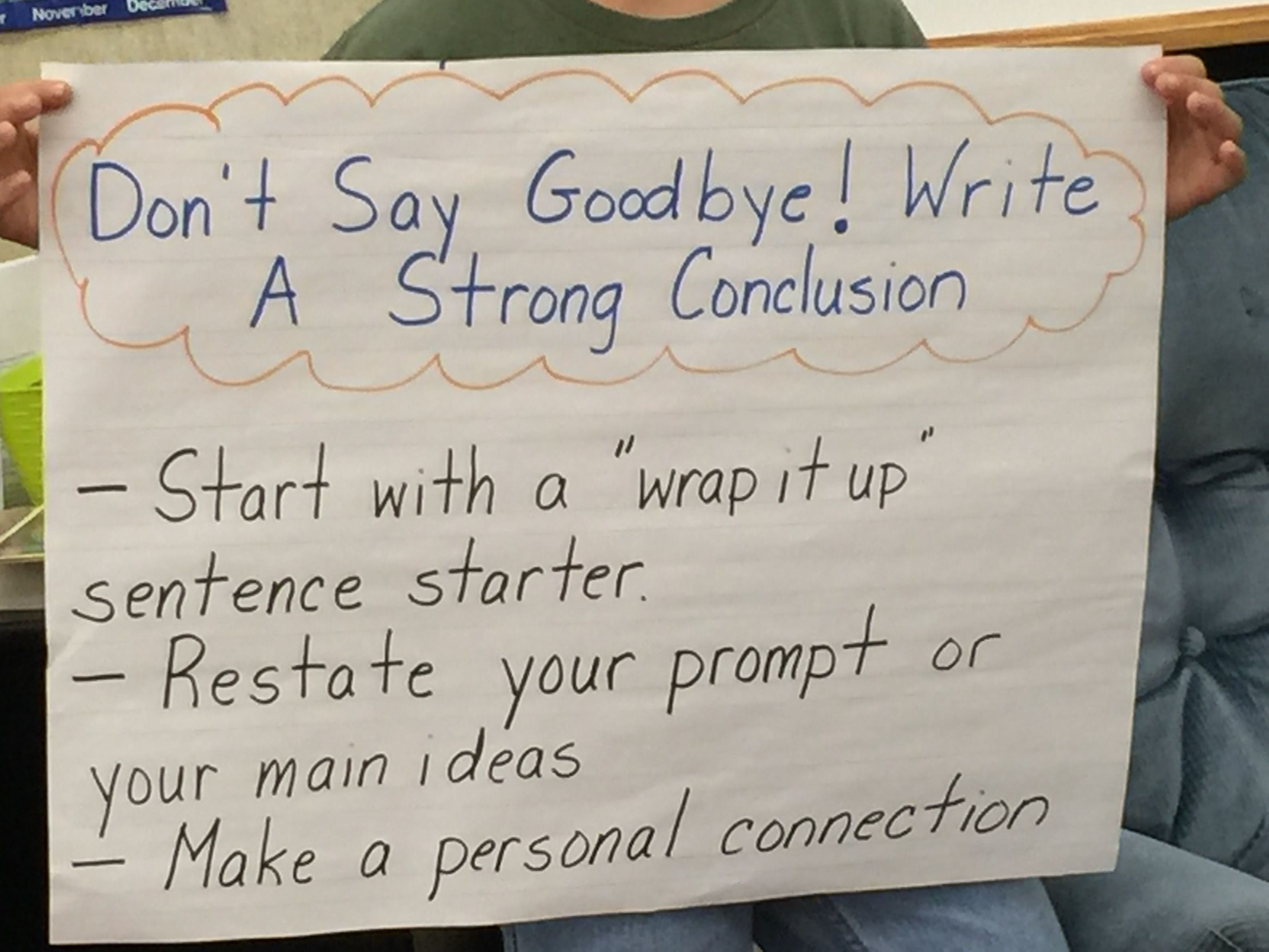 Writing A Conclusion Anchor Chart Writing Conclusions Anchor Charts Writing