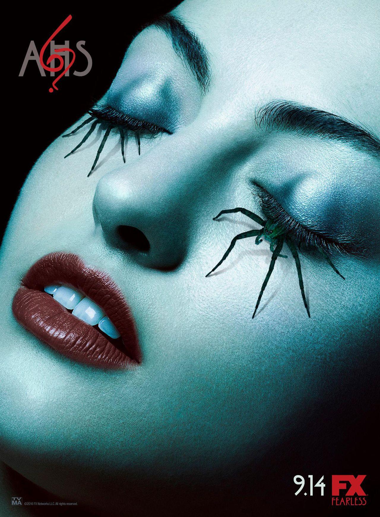 Arachnophobes Beware New Poster For American Horror Story 6 American Horror Story Seasons American Horror New American Horror Story