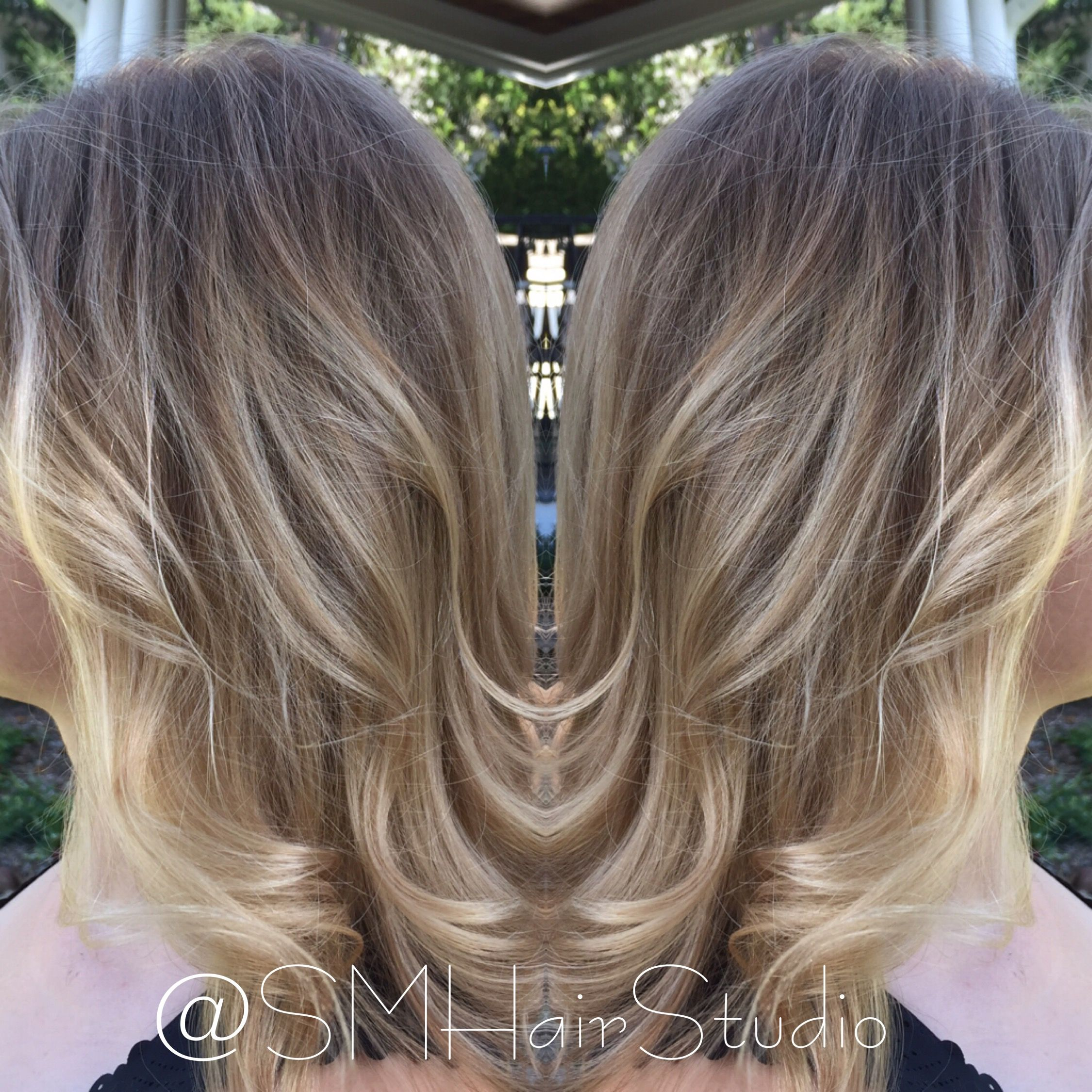 balayage over body wave perm with olaplex | my work | pinterest