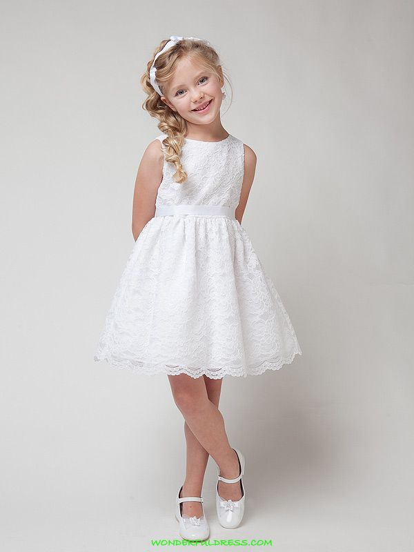 9a779c99e white lace dresses for girls | FLOWER GIRL *White Soft Quality Lace Girl  Dress