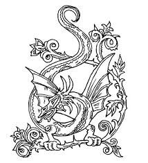 Celtic Knot Dragon Coloring Page Abstract Coloring Pages Celtic Coloring